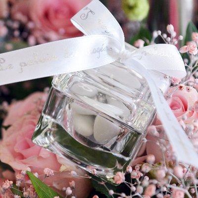 Contenant à dragées en cristal pour un mariage French Riviera !