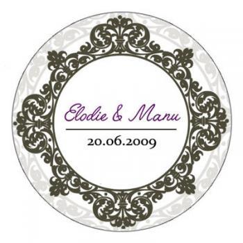 stickers personnalis pour mariage baroque. Black Bedroom Furniture Sets. Home Design Ideas