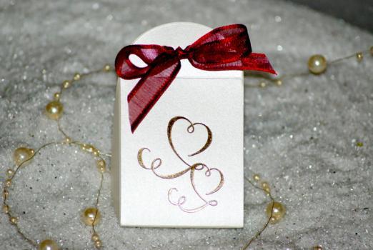 Préférence Ballotin mariage | pochette ivoire nacré | contenant à dragée RJ22
