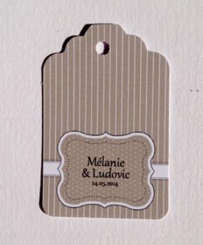 rayures amricaine - Etiquette Dragees Personnalise Mariage